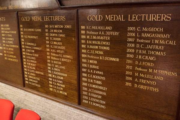 Gold medal lecturers